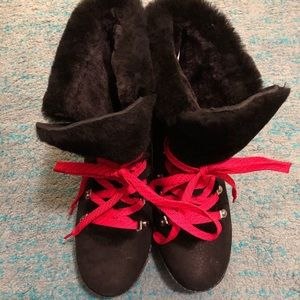 New without box J. Crew Nordic Wedge black boots